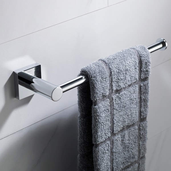 Kraus Ventus Kea 17725 Bathroom Towel Bar In Chrome Brushed Nickel Matte Black