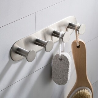 KRAUS Elie KEA-18804 Bathroom Robe and Towel Hook Rack with 4 Hooks in Chrome, Brushed Nickel, Matte Black Finish
