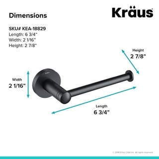 KRAUS Elie KEA-18829 Bathroom Toilet Paper Holder in Chrome, Brushed Nickel, Matte Black Finish