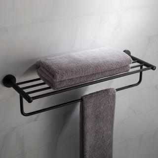 KRAUS Elie KEA-18842 Bathroom Shelf with Towel Bar in Chrome, Brushed Nickel, Matte Black Finish