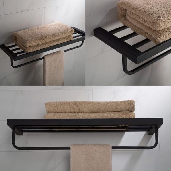 Shop Kraus Stelios Kea 19942 Bathroom Shelf With Towel Bar