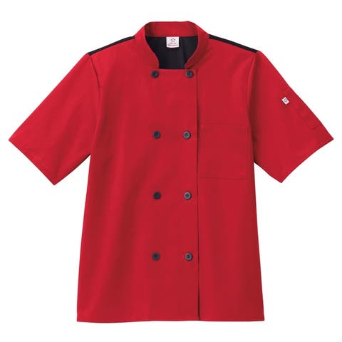 5 Star Unisex Short Sleeve Chef Coat Moisture Wicking
