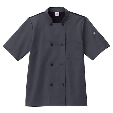 5 Star Unisex Short Sleeve Chef Coat Moisture Wicking