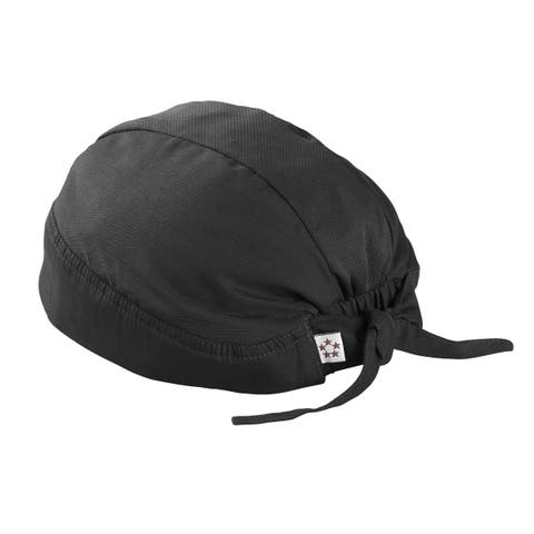 5 Star Mesh Skull Cap with Ties - One