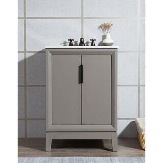 Elizabeth 24-Inch Single Sink Carrara White Marble Vanity