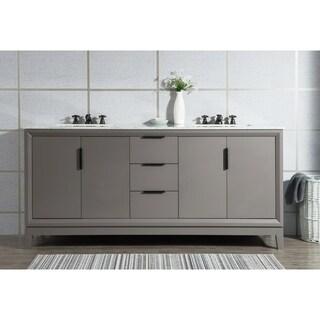 Elizabeth 72-Inch Double-sink Carrara White Marble Vanity