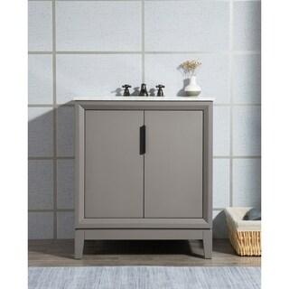 Elizabeth 30-Inch Single Sink Carrara White Marble Vanity