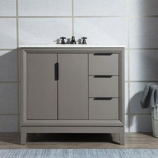 Elizabeth 36-Inch Single Sink Carrara White Marble Vanity