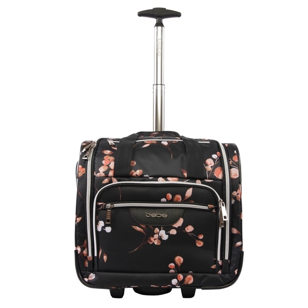 Bebe Valentina 16-inch Under the Seat Rolling Carry-On Tote Bag. Opens flyout.