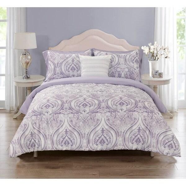 Treviso Microfiber Comforter Set in Purple