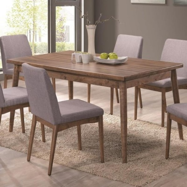 Knight Asian Hardwood Dining Table - Brown