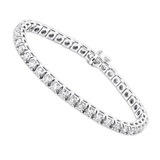 Diamond Tennis Bracelet Round Diamonds in 14k Gold 9.7ctw G-H Color by Luxurman