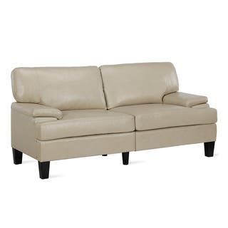 Awesome Buy Beige Faux Leather Sofas Couches Online At Overstock Gmtry Best Dining Table And Chair Ideas Images Gmtryco