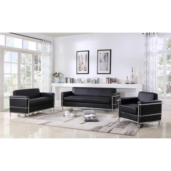 Best Master Furniture Helix Modern 3 Pieces Living Room Set