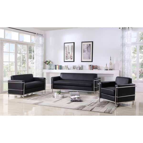 Best Master Furniture Helix Modern 3 Pieces Living Room Set Overstock 24267418 Off White
