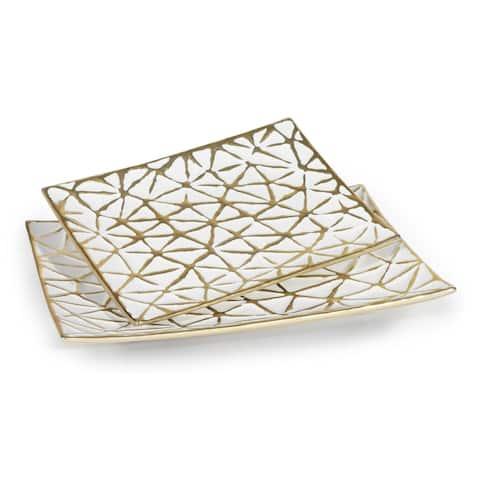 Yeva (Set/2) Decorative Ceramic Trays