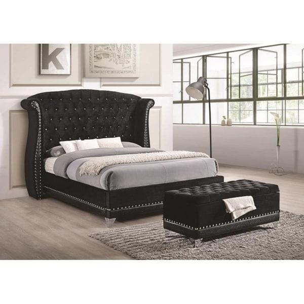 RockStar Nailhead Wingback Bed
