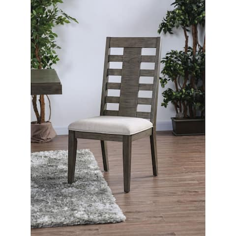 Copper Grove Tran Weathered Grey Dining Chairs (Set of 2)
