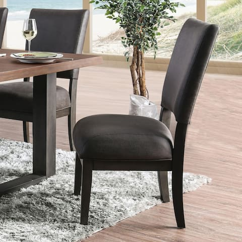 Strick & Bolton Calaway Faux Leather Dining Chairs (Set of 2)