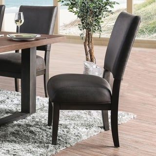 Furniture of America Tomas Leatherette Dining Chairs (Set of 2)