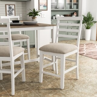 Furniture of America Clement Rustic Counter Height Chairs (Set of 2)