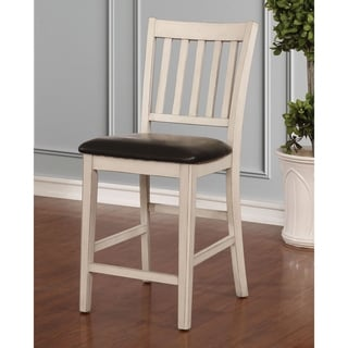 The Gray Barn Doolittle Slatted Counter Height Chairs (Set of 2)