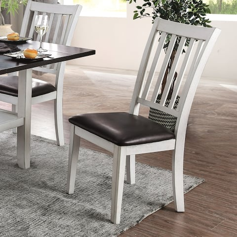 The Gray Barn Doolittle Faux Leather Dining Chairs (Set of 2)