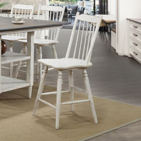 The Gray Barn Riverbone Rustic Counter Height Chairs (Set of 2)