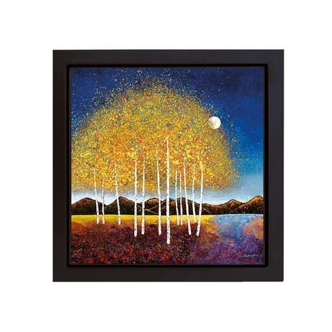 Evening Stream by Melissa Graves-Brown Black Floater Framed Canvas Giclee Art (20 in x 20 in, Ready to Hang)