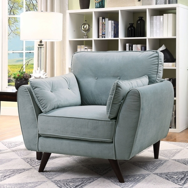 Shop Carson Carrington Svelgen Light Teal Accent Chair