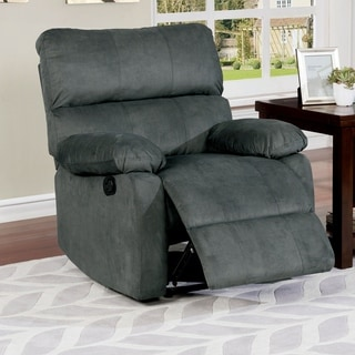 Furniture of America Armstrong Grey Recliner