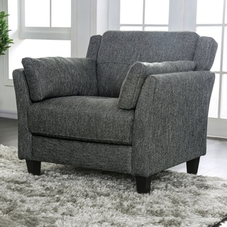 Furniture of America Bayard Mid Century Modern Grey Accent Chair