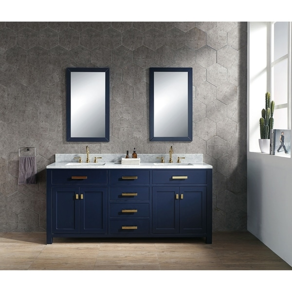 Shop 72 Inch Double Sink Bathroom Vanity From The Madison
