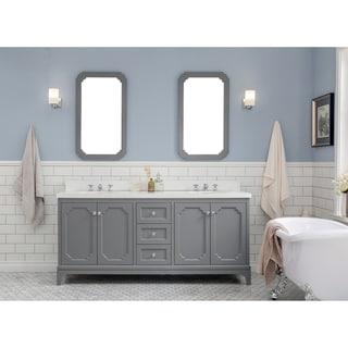 Link to 72 Inch Wide Double Sink Quartz Carrara Bathroom Vanity From The Queen Collection Similar Items in Bathroom Vanities