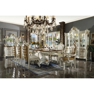 ACME Picardy Hutch and Buffet in Antique Pearl