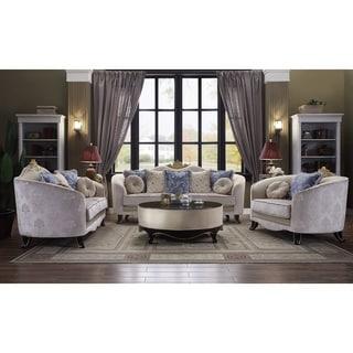 ACME Sheridan Sofa with 7 Pillows in Cream Fabric