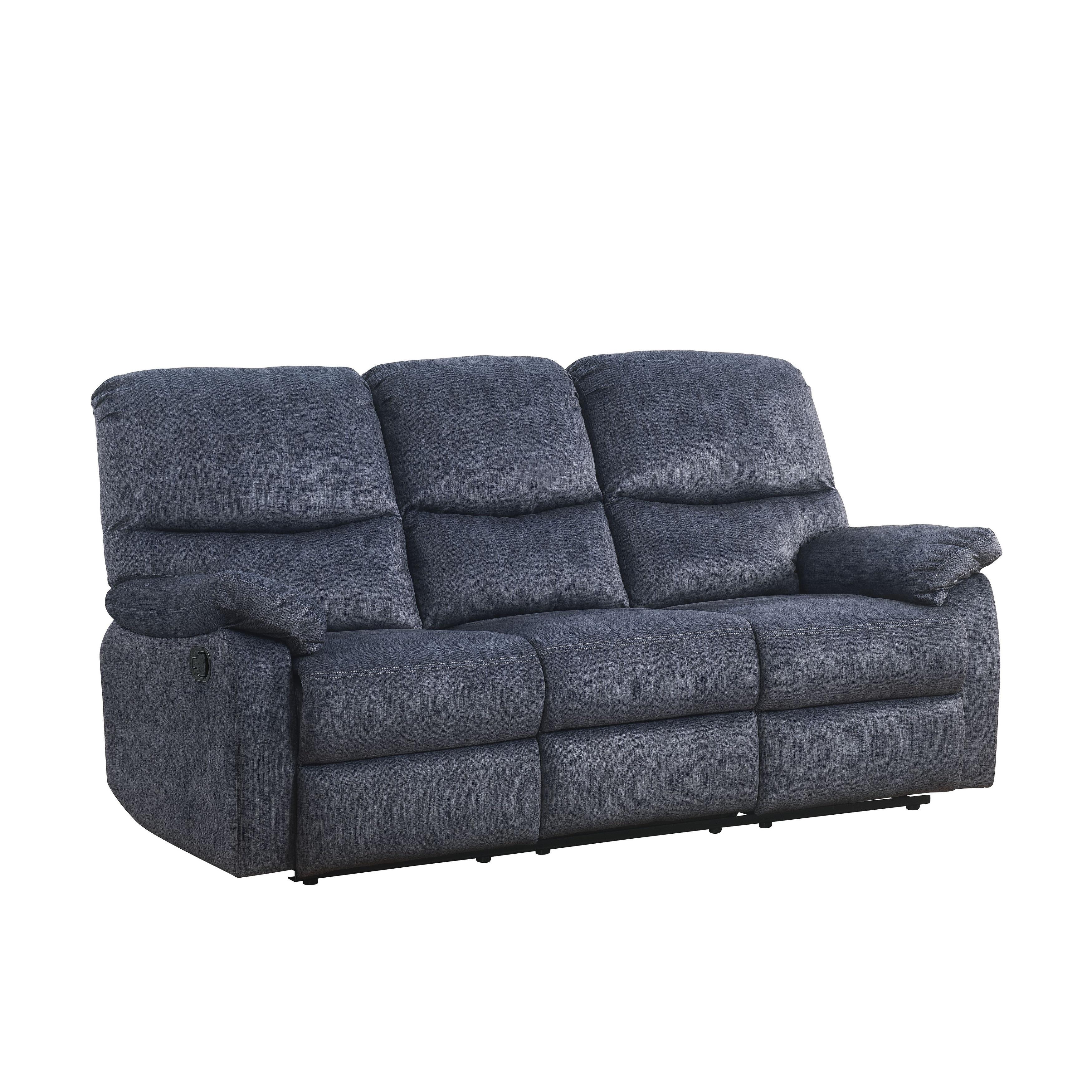 ACME Saul II Blue Denim Velvet Sofa