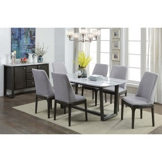 ACME Madan Side Chair (Set of 2) in Fabric and Gray Oak