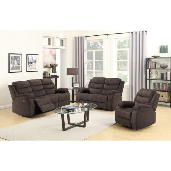 ACME Cuinn Chocolate Velvet Recliner Sofa
