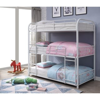 ACME Cairo Triple Twin Bunk Bed in White