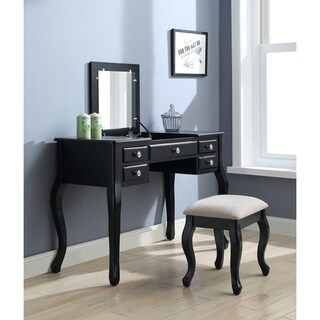 ACME Ordius Vanity Set in Tan Velvet and Black