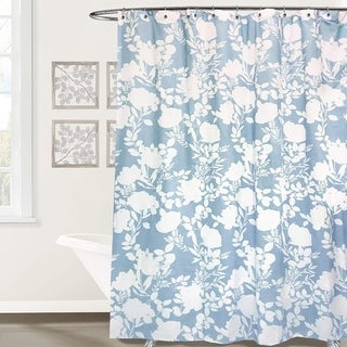 DriftAway Floral Delight Fabric Shower Curtain