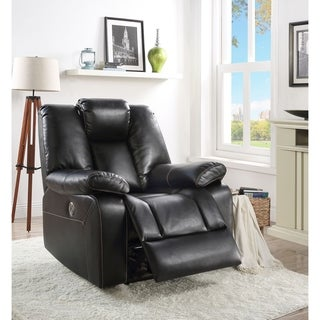 ACME Jailene Power Motion Recliner in Black Leather-Aire