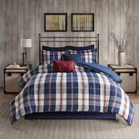 Woolrich Ryland Blue Oversized Plaid Print Comforter Set