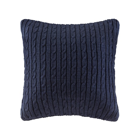 """Woolrich Buckley Cable Knit Euro Sham 2-Color Option - 26x26"""""""