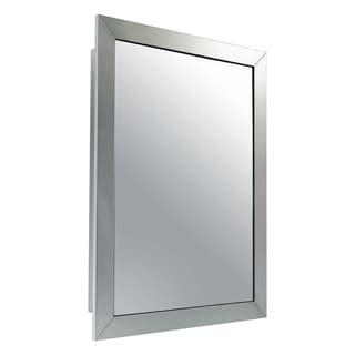 "Ketcham Cabinets Premier Aluminum Wide Frame Surface Mounted Medicine Cabinet - 18""W x 26""H"