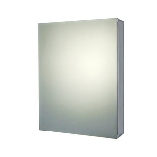 "Ketcham Cabinets Premier Aluminum Single Door Medicine Cabinet with Polished Edge Mirror - 24""W x 36""H"