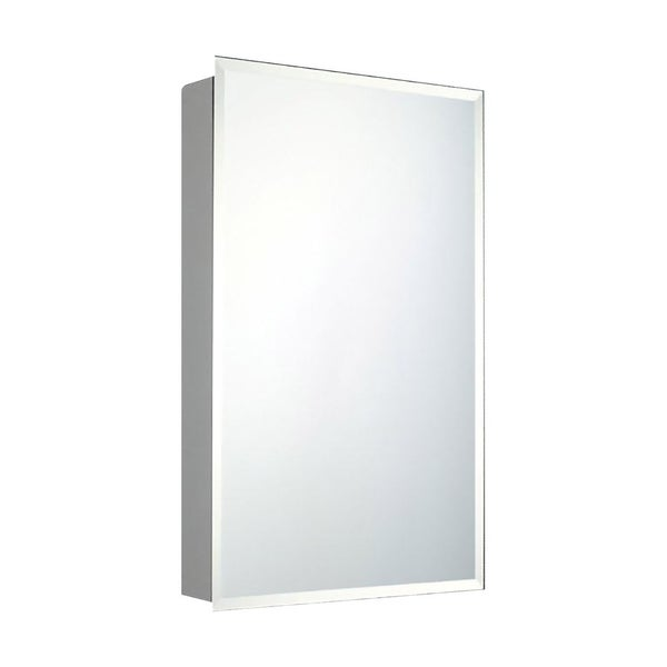 Ketcham Cabinets Recessed Mounted Single Door Medicine Cabinet With Beveled Edge Mirror 12 W