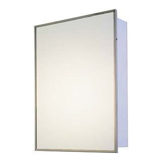 "Ketcham Cabinets Builders Grade Series Surface Mounted Single Door Steel Medicine Cabinet - 16""W x 36""H"