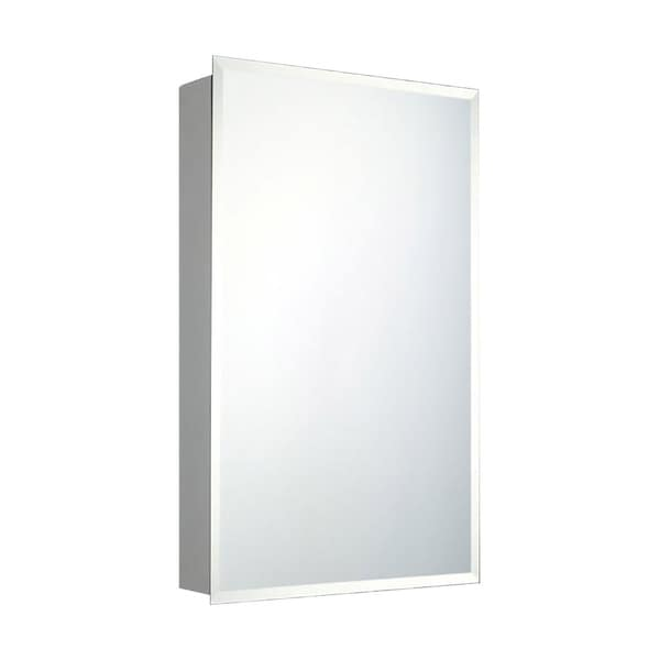 """Ketcham Cabinets Recessed Mounted Single Door Medicine Cabinet with Beveled Edge Mirror - 18""""W x 60""""H"""